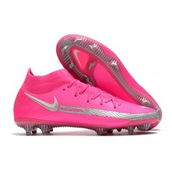 Scarpe Calcio Nike Phantom Gt Elite Dynamic Fit Fg Rosa Argento