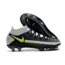 Scarpe Calcio Nike Phantom Gt Elite Dynamic Fit Fg Nero Grigio Giallo