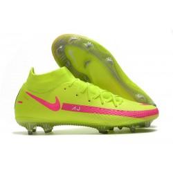 Nike Phantom Gt Elite DF FG Uomo Verde Rosa