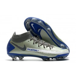Nike Phantom Gt Elite DF FG Uomo Argento Blu