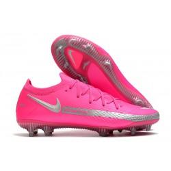 Scarpa Nouvo 2021 Nike Phantom GT Elite FG Rosa Argento