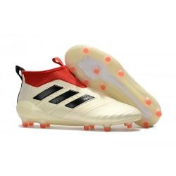Scarpa da Calcio Nuove Adidas ACE 17+ PureControl FG - Bianco Rosso