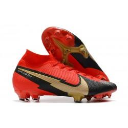 Nike Mercurial Superfly 7 Elite DF FG Rosso Nero Oro