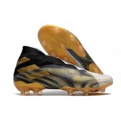 Scarpa Adidas Nemeziz 19+ FG Bianco Oro Metallico Nero Core