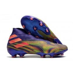 Scarpa Adidas Nemeziz 19+ FG - Inchiostro Energy Rosa Signal Verde Signal