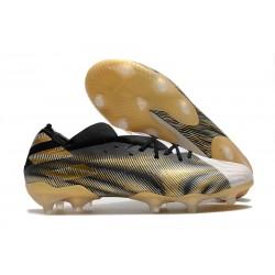 Scarpe Calcio adidas Nemeziz 19.1 FG - Bianco Oro Metallico Nero Core