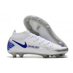 Nike Phantom Gt Elite DF FG Uomo Bianco Blu