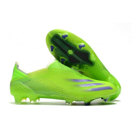 Scarpe Nuovo adidas X Ghosted + FG Verde Viola