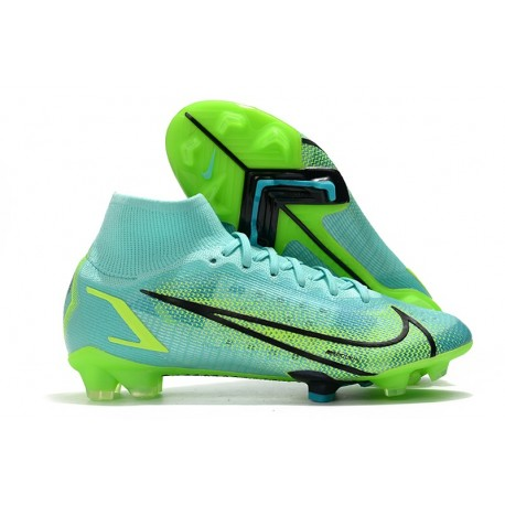 Nike Scarpe Mercurial Superfly 8 Elite FG Turchese Dinamico Lime Glow