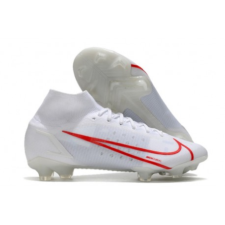 Nike Mercurial Superfly VIII Elite FG Bianco Rosso
