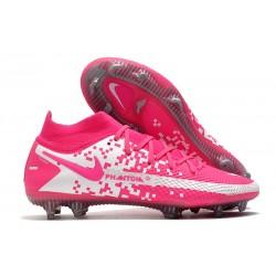 Scarpe Nike Phantom Gt Elite DF FG Rosa Bianco