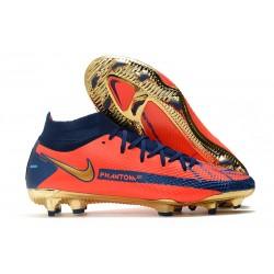 Scarpe Nike Phantom Gt Elite DF FG Arancio Blu Oro