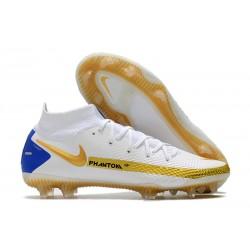 Scarpe Nike Phantom Gt Elite DF FG Bianco Rosso Blu
