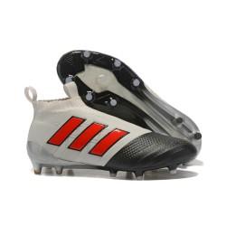 adidas Scarpe Calcio Ace 17+ Pure Control FG - Grigio Nero Rosso