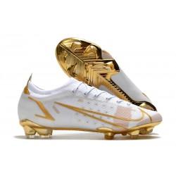 Nike Mercurial Vapor 14 Elite FG Bianco Oro