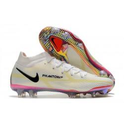 Nike Phantom Gt 2 Elite DF FG Bianco Nero Cremisi Vivace Rosa Blast