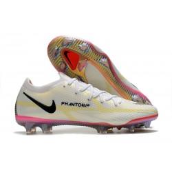 Nike Phantom Generative Texture 2 Elite FG Bianco Nero Cremisi Vivace Rosa Blast