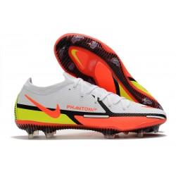 Nike Phantom Generative Texture 2 Elite FG Bianco Cremisi Vivace Volt