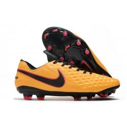 Scarpa Cuir Nike Tiempo Legend VIII Elite FG Arancione Nero