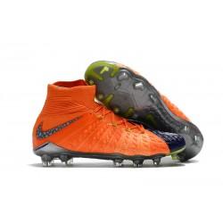 Scarpe da Calcio Nike Hypervenom Phantom III DF FG - Arancio Nero