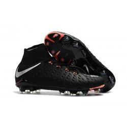 Scarpe da Calcio Nike Hypervenom Phantom III DF FG - Nero Metallico
