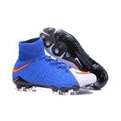Nike Neymar Scarpini da Calcio Hypervenom Phantom 3 DF FG - Blu Bianco Rosso