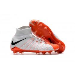 Nike Neymar Scarpini da Calcio Hypervenom Phantom 3 DF FG - Bianco Arancio