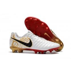Nike Tiempo Legend VII FG Scarpe da Calcio Canguro - Bianco Oro Rosso