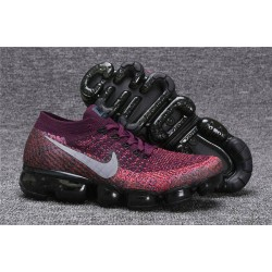 Nike Air VaporMax Flyknit Donna Scarpa Rosso Grigio