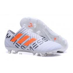 adidas Nemeziz Messi 17+ 360 Agility FG Scarpe da Calcio - Bianco Arancio Grigio