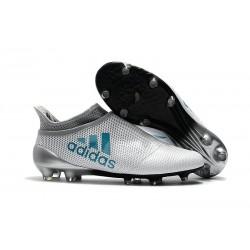 Scarpe da Calcio Nuove adidas X 17+ Purespeed FG - Bianco Blu