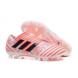 adidas Nemeziz Messi 17+ 360 Agility FG Scarpe da Calcio - Bianco Arancio