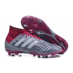 Adidas Scarpe da Calcio Predator 18.1 FG Pogba Grigio Rosso