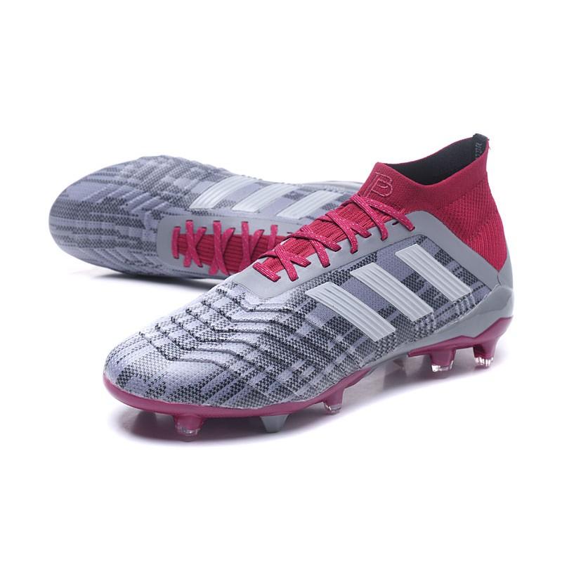 Adidas Da Fg 18 Pogba Calcio Scarpe Rosso Grigio Predator 1