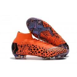 Cristiano Ronaldo Scarpa Nike Mercurial Superfly VI 360 Elite FG - Safari Arancio