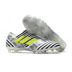 adidas Nemeziz Messi 17+ 360 Agility FG Scarpe da Calcio - Nero Bianco Giallo