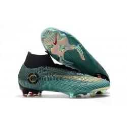 Nuova Cristiano Ronaldo Scarpa Nike Mercurial Superfly VI 360 Elite FG - Blu Nero Oro
