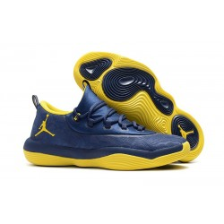 Nike Air Jordan Super.Fly 2018 Scarpa da Basket - Blu Giallo