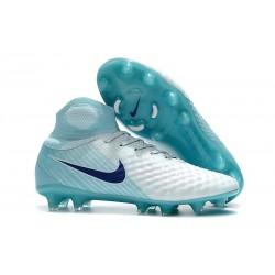 Nike Magista Obra 2 FG ACC Scarpa da Calcio - Bianco Blu