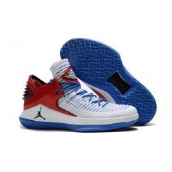 Nike Air Jordan 32 Mid Scarpe da Basket Uomo - Bianco Blu Rosso