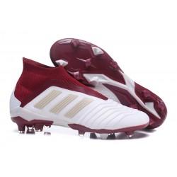 adidas Predator 18+ FG Scarpa Bianco Rosso