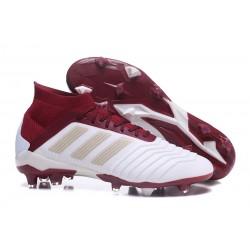 Adidas Scarpe da Calcio Predator 18.1 FG Bianco Rosso