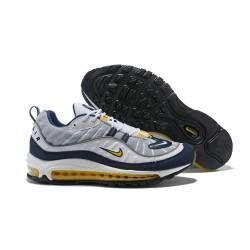 Supreme x NikeLab Air Max 98 Sneakers Basse da Uomo - Grigio Giallo
