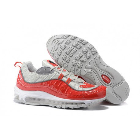 cheap for discount fd8a8 39a0a Supreme x NikeLab Air Max 98 Sneakers Basse - Rosso Grigio