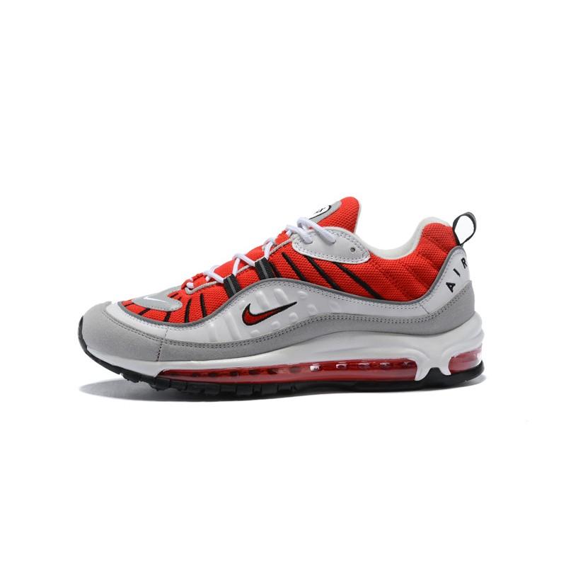 Scarpe Nike Air Max 98 Supreme Uomo Rosso Bianco Grigio