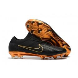 Nike Scarpe da Calcio Mercurial Vapor Flyknit Ultra FG - Nero Oro