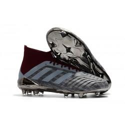 Paul Pogba adidas PP Predator 18.1 FG Scarpa Gris Rojo