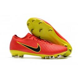 Nike Scarpe da Calcio Mercurial Vapor Flyknit Ultra FG - Rosso Nero