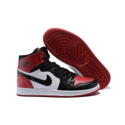 Nike Air Jordan1 Scarpe da Basket Uomo Nero Rosso Bianco