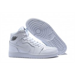 Nike Air Jordan1 Scarpe da Basket Uomo Bianco